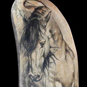 Cheval sur bois massif