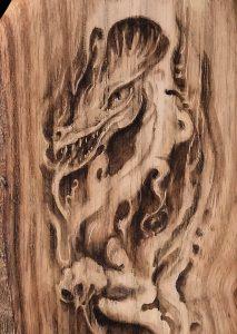 Détail du petit dragon