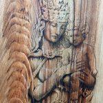 Vierge à l'enfant et dragons-détail