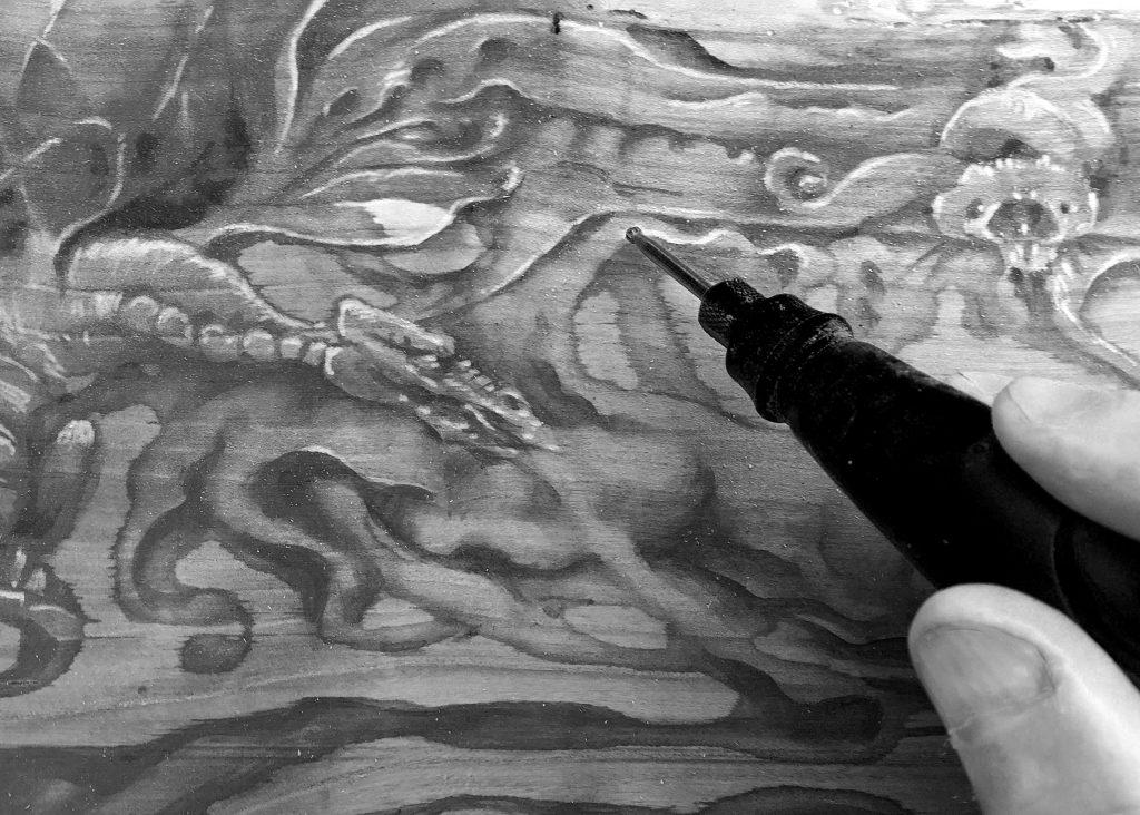 gravure du bois